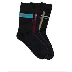 Pack of 3 Black Cotton Socks For Men