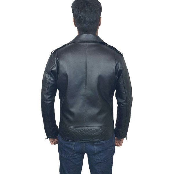 Mens Slim Fit Leather Jacket AMB2 B