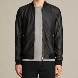Mens Slim Fit Pu JACKET AL SAINTS