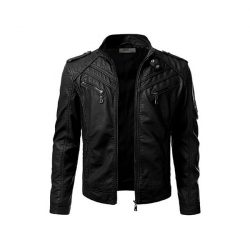 Mens Slim Fit Pu JACKET M2 2