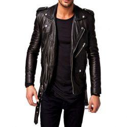 Mens Slim Fit Pu Leather Jacket AMB