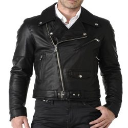 Mens Slim Fit Pu Leather Jacket MB11
