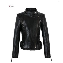 Women Slim Fit Pu Leather Jacket 1314