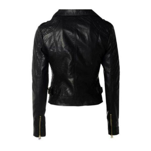 Women Slim Fit Pu Leather Jacket LMB 1