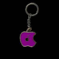 apple logo keychain purple