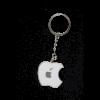apple logo keychain white