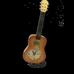 Guitar Table Clock Mustard