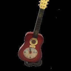 Guitar Table Clock Red
