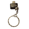 OTG Cable Metal Keyring Black