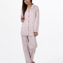 Pink Cotton Nightsuit For Women – Pink Cotton Night Suit