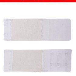 Pack Of 2 White Brushed Nylon 2×3 Hook & Eye Bra Extenders For Women