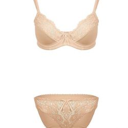 Skin Wired Bra & Panty Set For Women