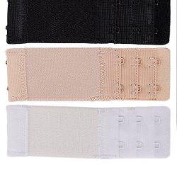 Pack Of 3 Multicolour Brushed Nylon 2×3 Hook & Eye Bra Extenders For Women