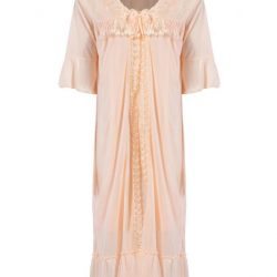 Nylon 2 Piece Nighty-Peach