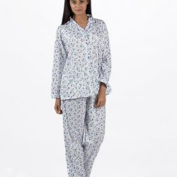 Blue Cotton Nightsuit For Women – Blue Cotton Nightsuit