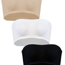 Pack of 3 Strapless Boob-Tubes