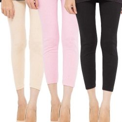 Pack of 3 – Multicolor Cotton Tights For Women