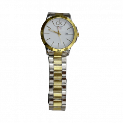 CK Men Watch Golden Silver Mix
