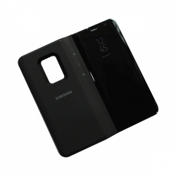 Clear View Standing Black Cover For Samsung S9 Plus A