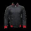 Men Slim Fit PU Leather Jacket HB11