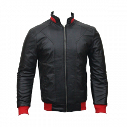 Men Slim Fit PU Leather Jacket HB11
