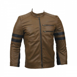 Men Slim Fit PU Leather Jacket RS3 1 1