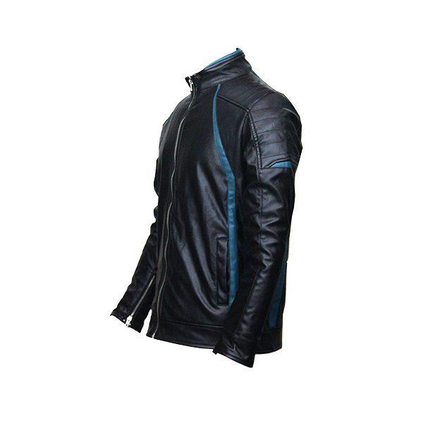 Men Slim Fit PU Leather m 14 b