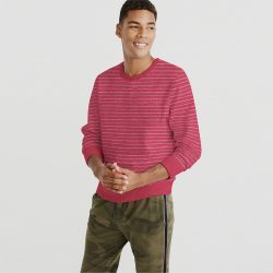 Men Sweat Shirt Pink Shade A
