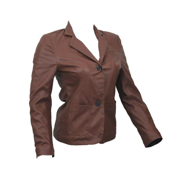 PU Leather Coats For Women HB004 C