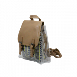 PU Leather College Bag Mustard Top