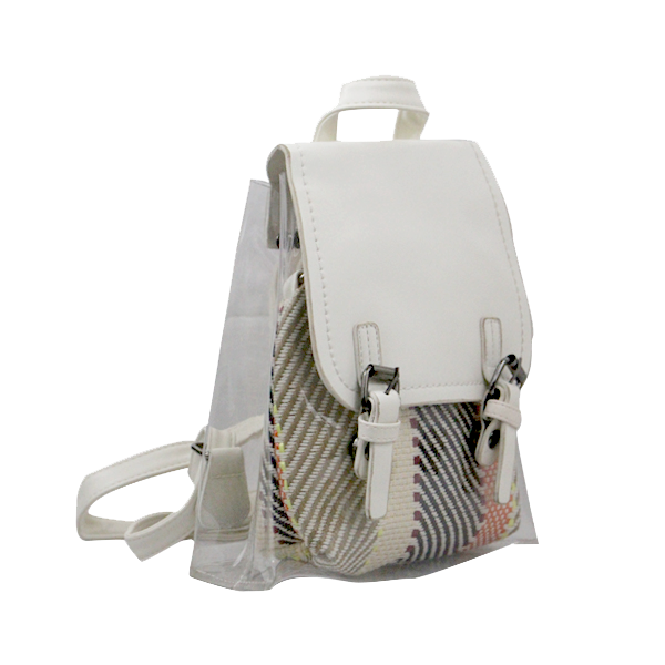 PU Leather College Bag White Top