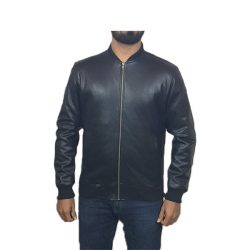 PU Leather Jacket For Men B1 Black A