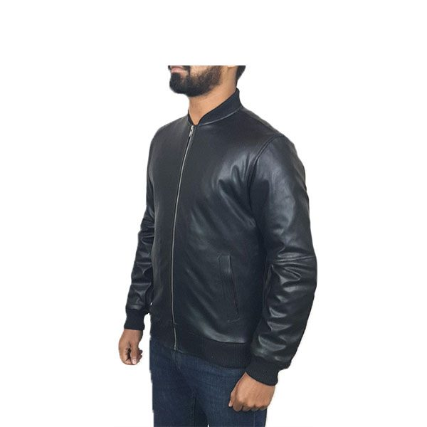 PU Leather Jacket For Men B1 Black B