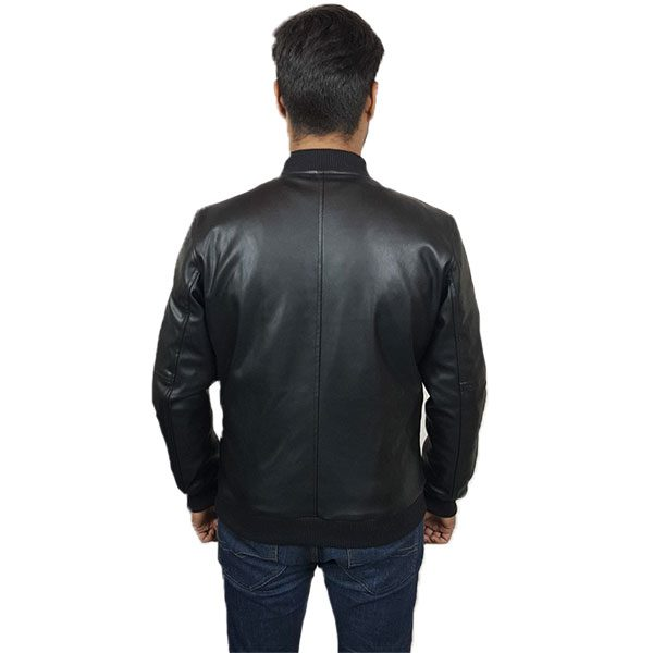 PU Leather Jacket For Men B1 Black C