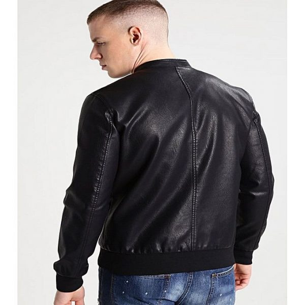 PU Leather Jacket For Men M5 2