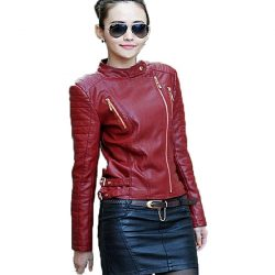 PU Leather Jacket For Women JM A