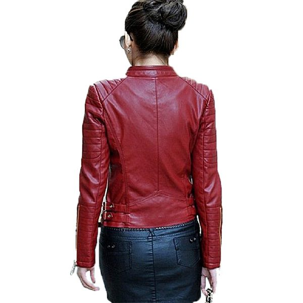 PU Leather Jacket For Women JM B
