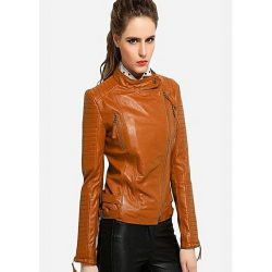 PU Leather Jacket For Women MW1314 1