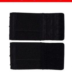 Pack Of 2 Black Brushed Nylon 3×3 Hook & Eye Bra Extenders For Women