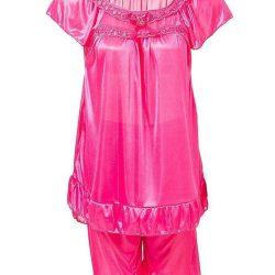 Blush Pink Nylon Short Suit For Women