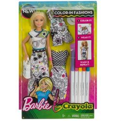 Barbie Crayola Color In Fashion Doll A