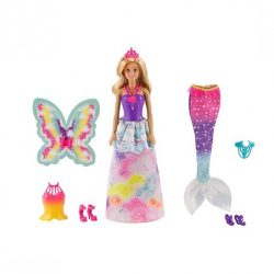 Barbie Dreamtopia Doll with 3 Fairytale A