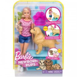 Barbie Newborn Puppy Playset A