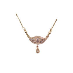 Gold Color Fashion Pendant Necklace A