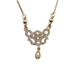 Gold Plated Modern Celebrity Style Locket Chain A