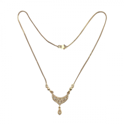 Golden Neckless With beautiful Quality Chain A