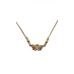 Golden color Necklace with butterfly design