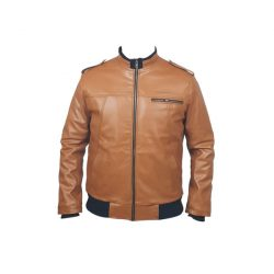 Men Slim Fit PU Leather Jacket B666 3 A