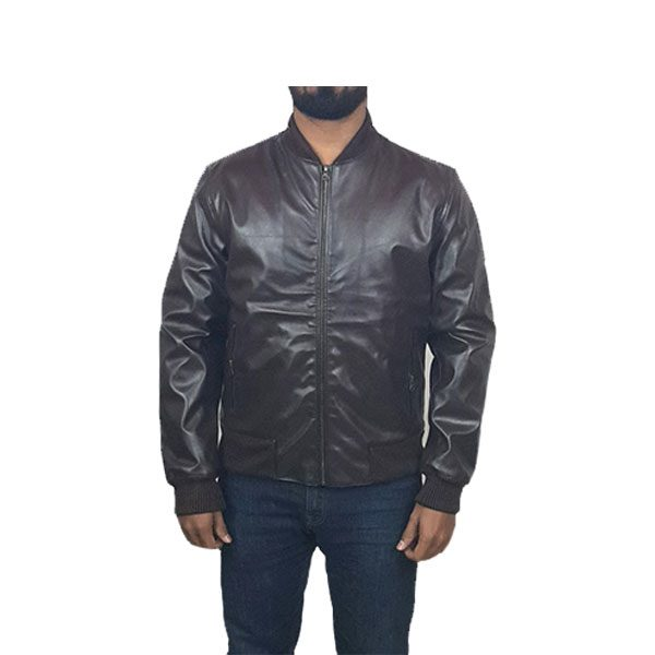 Men Slim Fit PU Leather Jacket BOOMBER BB A