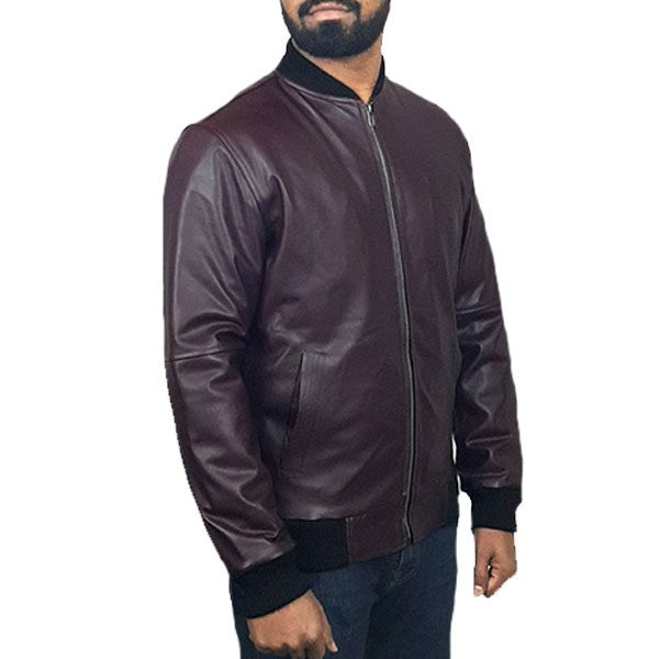 Men Slim Fit PU Leather Jacket BOOMBER CB A